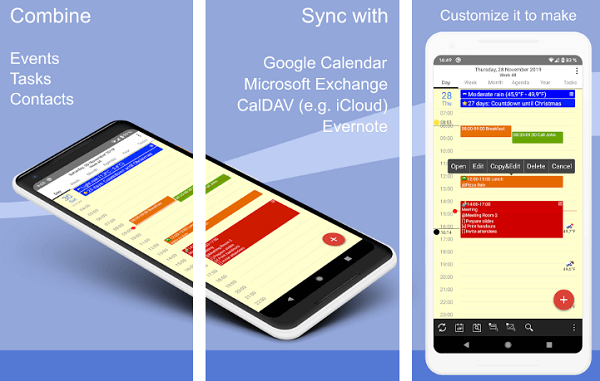 CalenGoo - Calendar and Tasks app for android