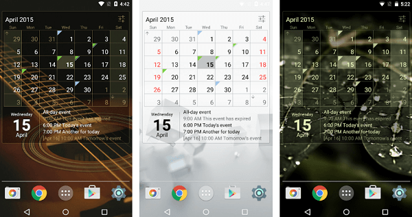 Calendar Widget Month + Agenda app for android