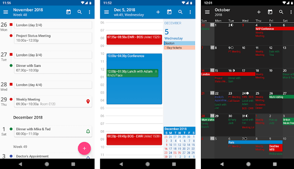 acalendar app for android