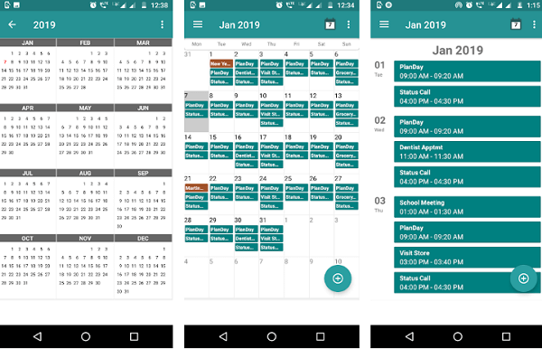 Calendar daily planner app for android