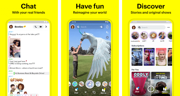snapchat app for android