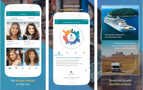 eHarmony app for android and ios
