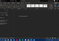 Redesigned dark Theme is coming to Word app for desktop